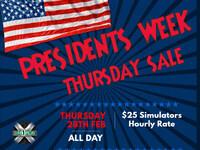 Presidents Week Thursday Sale