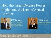 Col. Eli Bar-on: How the Israel Defense Forces Implement the Law of Armed Conflict