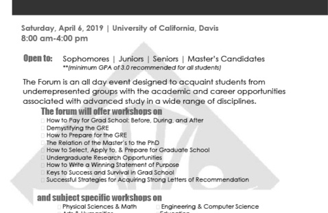 California Forum for Diversity in Graduate Education