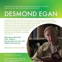 An Evening with Irish Poet Desmond Egan