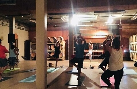 Candlelit Yoga in the Caskroom