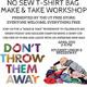 Bagless Campus: No Sew T-Shirt Bag Workshop