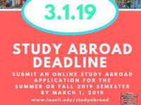 Study Abroad Application Deadline