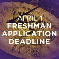 Freshman Application Deadline for Fall 2019