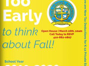 Rock Church Academy Spring Open House