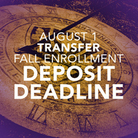 Transfer Fall Enrollment Deposit Deadline for Fall 2019