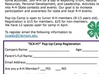 4-H Pop Up Camp