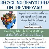Panel: Recycling Demystified on the Vineyard