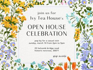 Ivy Tea House  - Open House Celebration