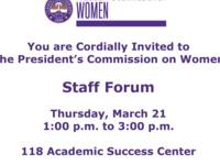 Women's Commission Staff Forum