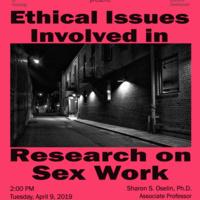 ORI Seminar Series – Research on Sex Work