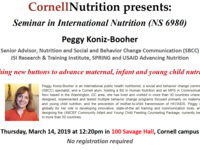 Pushing new buttons to advance maternal, infant and young child nutrition