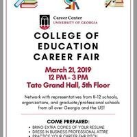 UGA College of Education Career Fair
