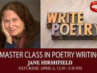 Jane Hirshfield Master Class in Poetry Writing & Poetry Reading