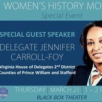 Special Guest Speaker Delegate Jennifer Carroll-Foy