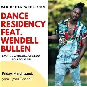 Dance Residency ft. Wendell Bullen