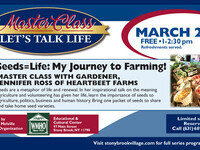 Master Class…My Journey to Farming!