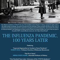 """Panel: """"The Influenza Pandemic of 1918-1919: 100 Years Later"""""""