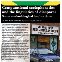 Computational Sociophonetics and the Linguistics of Diaspora: Some Methodological Implications