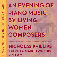 An evening of piano music by living women composers—Nicholas Phillips