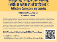 Three Keys for Designing Integrative Writing (with or without ePortfolios): Reflection, Connection, and Learning