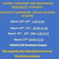 Semester Conversion Group Advising Session