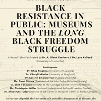 """Black Resistance in Public: Museums and the Long Black Freedom Struggle"""