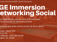 SGE Networking Social in DC