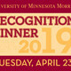 Faculty & Staff Recognition Dinner 2019