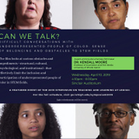 """Film Screening of """"Can We Talk? Difficult Conversations with Underrepresented People of Color: Sense of Belonging and Obstacles to STEM Fields""""  