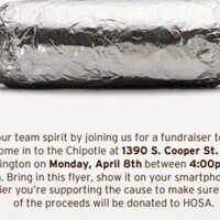 Health Occupations Students of America: Chipotle fundraiser