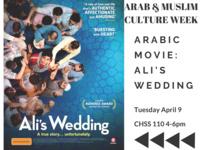 "Arab & Muslim Culture Movie Screening, ""Ali's Wedding"""