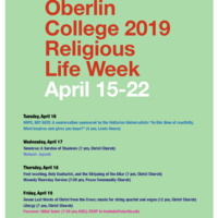 2019 Religious Life Week : Eclectic Christians Dinner/Discussion