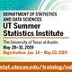 UT Summer Statistics Institute