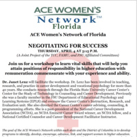 ACE Women's Network of Florida: NEGOTIATING FOR SUCCESS