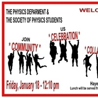 Physics Colloquium Series: Welcome Back