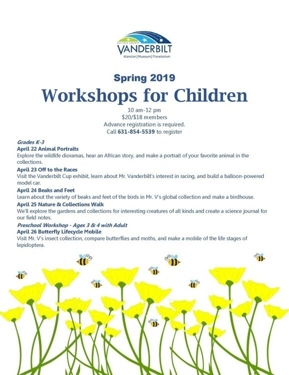Beaks and Feet Children's Workshop