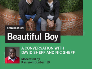 convocation poster advertising Beautiful Boy, a film