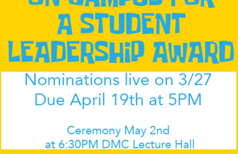 Student Leadership Award Nominations!! Applications Live NOW!!