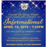Sigma Gamma Rho Spring Informational