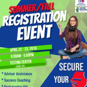Summer/Fall Registration Event