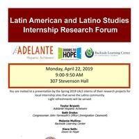 Latin American and Latino Studies Spring Internship Research Forum