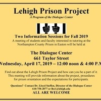 Lehigh Prison Project Fall 2019 - Information Session | The Dialogue Center