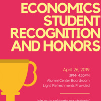 Economics Student Recognition and Honors