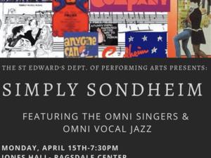 SIMPLY SONDHEIM : Featuring The Omni Singers & Omni Vocal Jazz