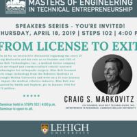 Speakers Series - From License to Exit | Technical Entrepreneurship Program