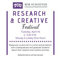 Schieffer College Research & Creative Festival