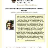 Identification of Application Behavior Using Process Profiles