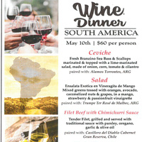 Wine Dinner - South American Theme!