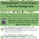 CLASS FULL - Researching Your Family History: General Introduction to Genealogy